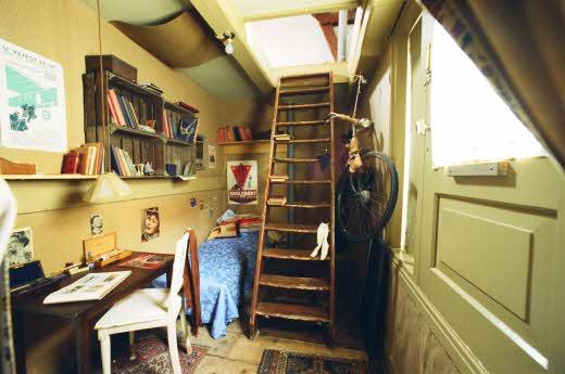 Interior da Casa de Anne Frank em Amsterdã