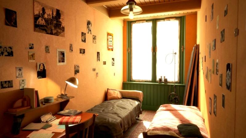Quarto da Casa de Anne Frank em Amsterdã