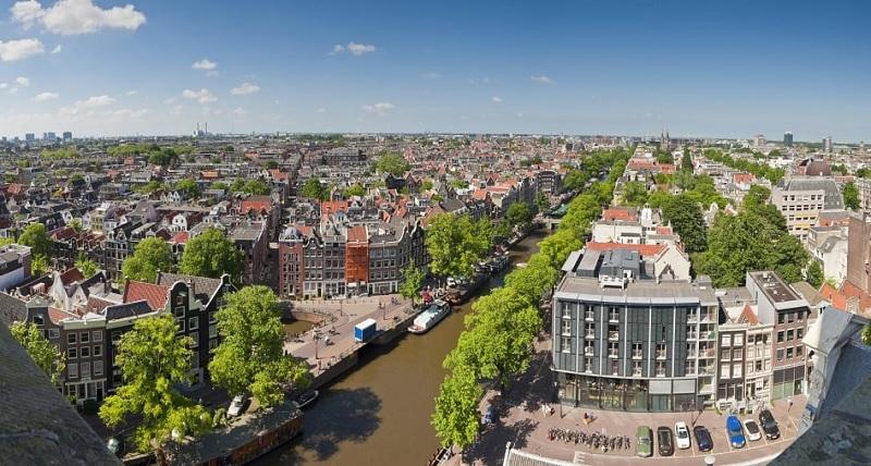 Vista da cidade de Amsterdã