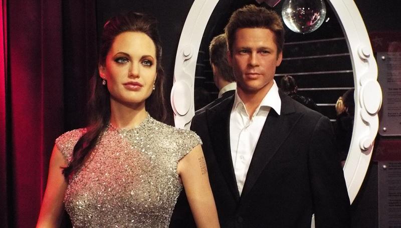 Estátuas de Agelina Jolie e Brad Pitt no Museu Madame Tussauds em Amsterdã
