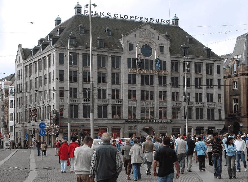 Fachada do Museu de Cera Madame Tussauds em Amsterdã