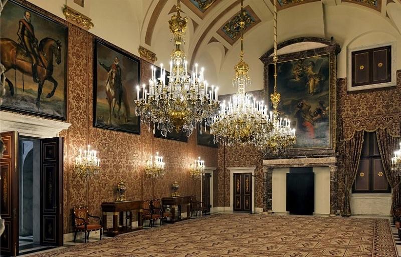 Decoração histórica do Palácio Real de Amsterdã