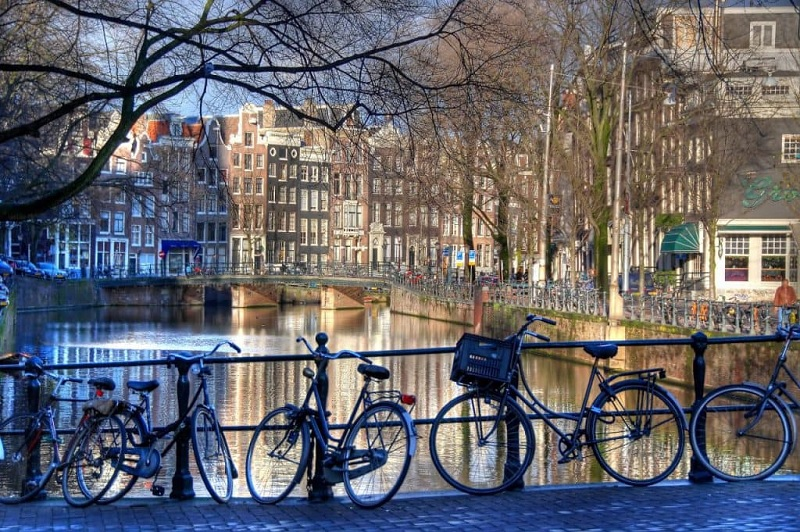 Bairro Jordaan em Amsterdã