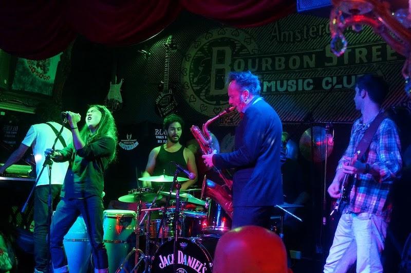 Música ao vivo na balada Bourbon Street em Amsterdã