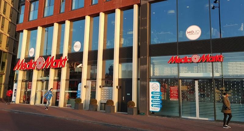 Media Markt no centro de Amsterdã