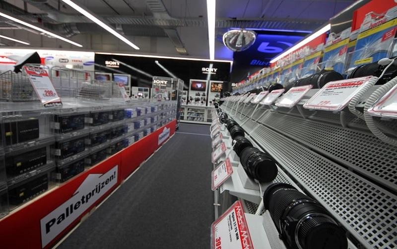 Interior da loja MediaMarkt em Amsterdã