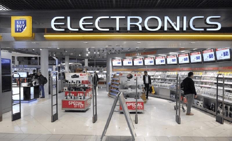 Loja Eletronics no aeroporto de Amsterdã