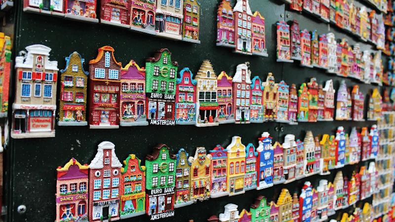Imãs para souvenirs em Amsterdã