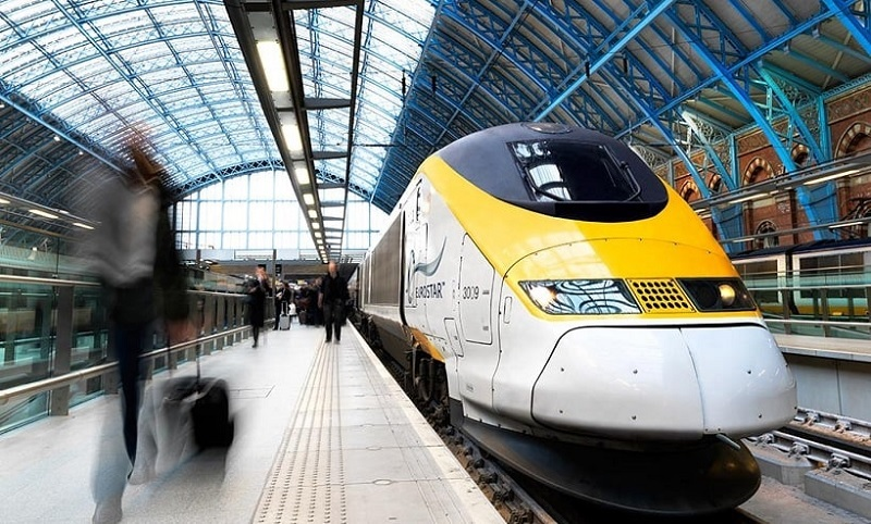 Trem em Amsterdã