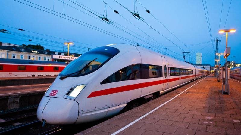 Viagem de trem de Amsterdã a Munique