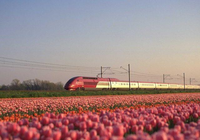 Viagem de trem de Amsterdã a Paris