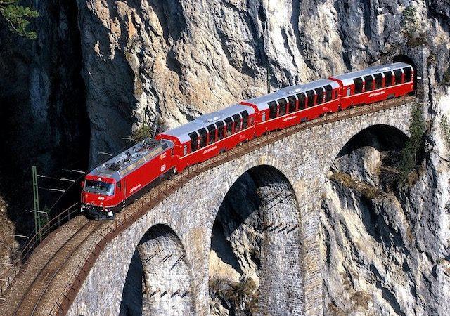 Viagem de trem de Amsterdã a Zurique