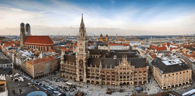 Cidade de Munique na Alemanha