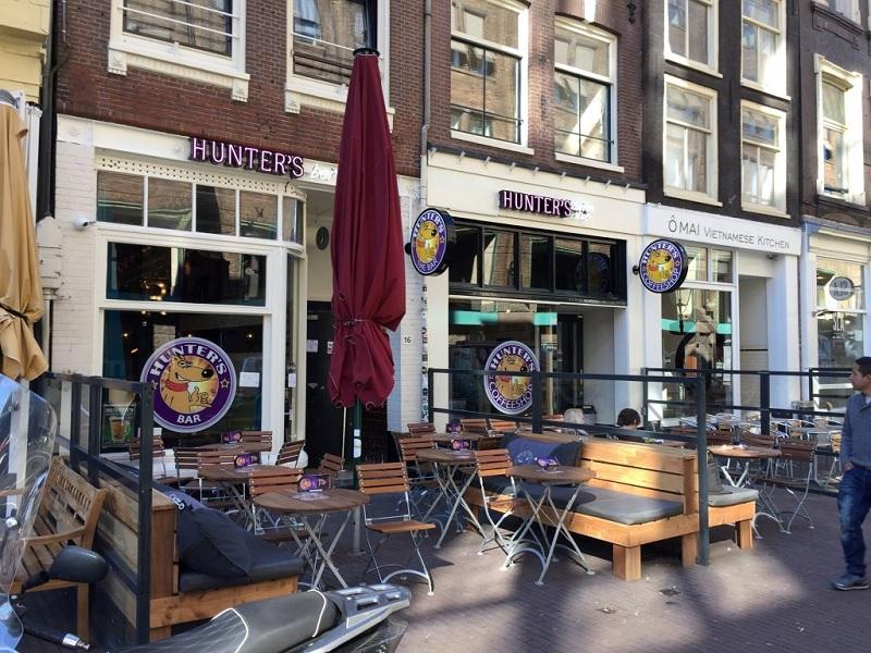 Coffee Shop Hunter's em Amsterdã