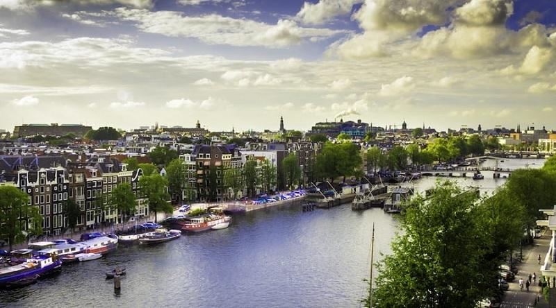 Cidade de Amsterdã na Holanda
