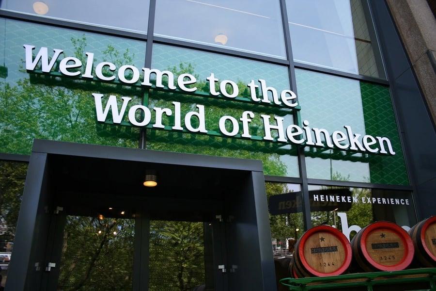 Entrada da Heineken Experience em Amsterdã