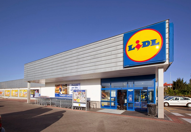 Fachada do supermercado Lidl em Amsterdã