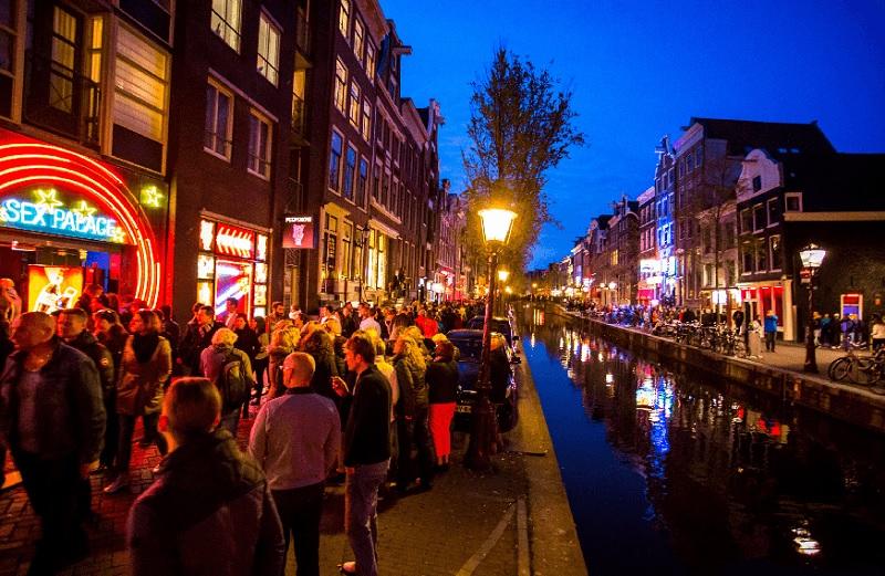 Noite de inverno em Amsterdã