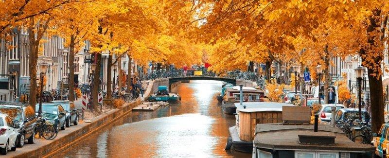 Outono em Amsterdã