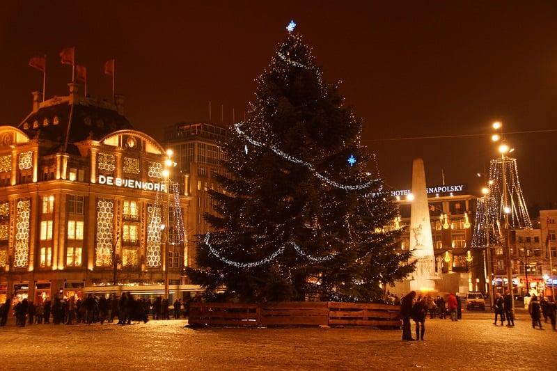 Árvore de Natal em Amsterdã