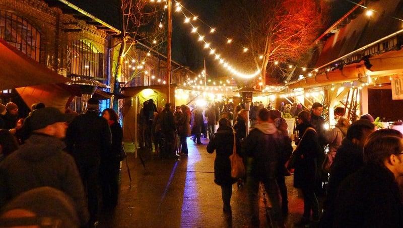Pure Winter Markt em Amsterdã