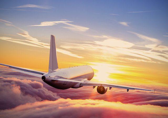 Viagem de avião em Amsterdã