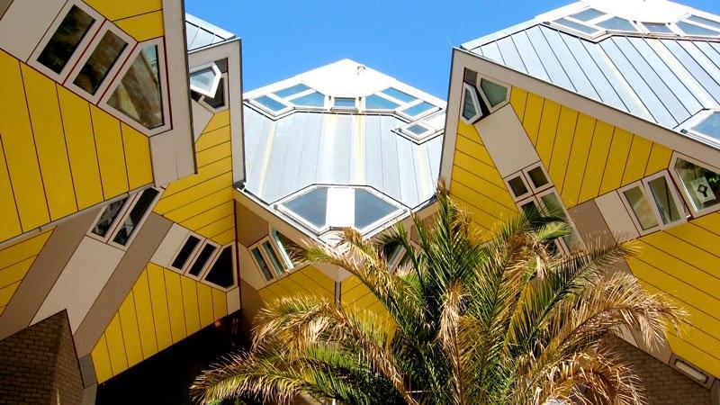 Casas Cubo em Roterdã