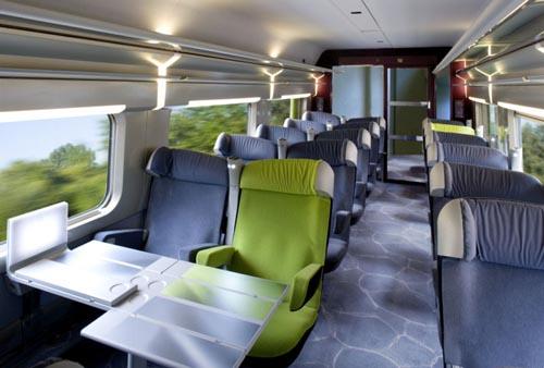 Interior do trem europeu