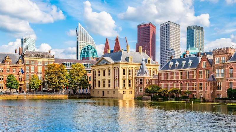 Paisagem de Haia na Holanda