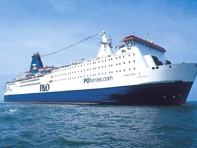 Ferry boat P&O Ferries na Holanda