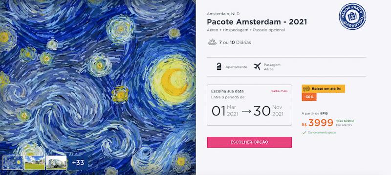 Pacote Hurb para Amsterdã
