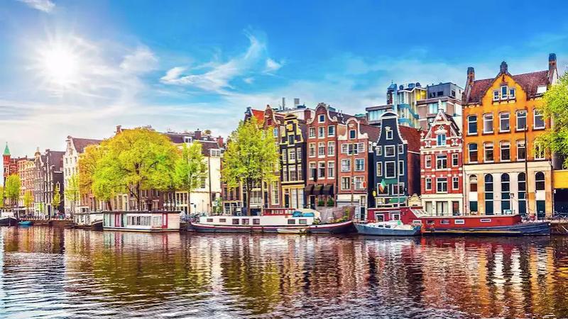 Rio Amstel em Amsterdã