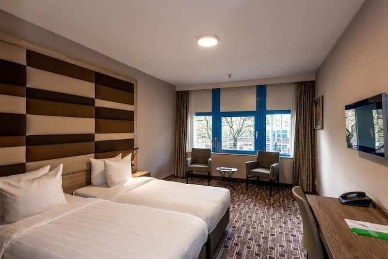Quarto do XO Hotels Blue Square em Amsterdã