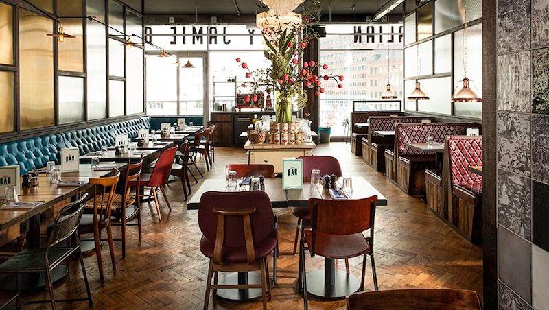Restaurante Jamie's Italian em Roterdã na Holanda